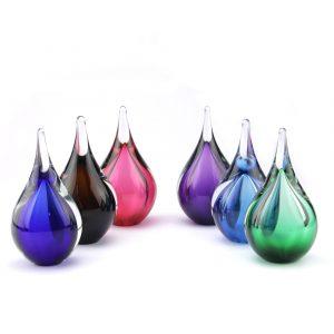Mini urnen van glas